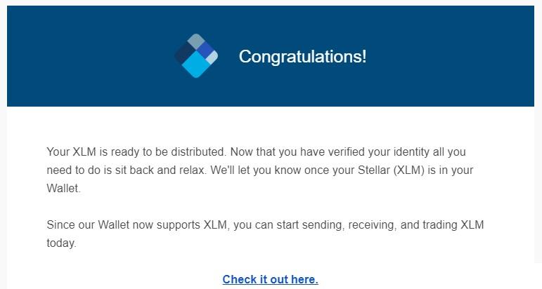 blockchain info  XLM Airdrop